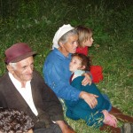 Villagers watching the Jesus Film, Albania