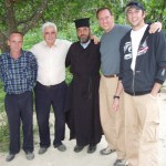 Rob, Jeff, Spiro, and the mayor, Albania
