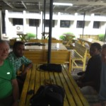 Don and Rob with two engineering students at Fiji National University